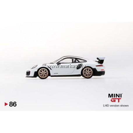 (PO) MINI GT 1/64 #86 PORSCHE 911 GT2 RS WEISSACH PACKAGE