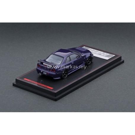(PO) IGNITION MODEL 1/64 NISMO R34 GT-R Z TUNE PURPLE METALLIC