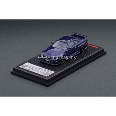 (PO) IGNITION MODEL 1/64 NISMO R34 GT-R Z TUNE PURPLE METALLIC
