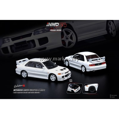 INNO MODELS INNO64 1/64 MITSUBISHI LANCER EVOLUTION III WHITE