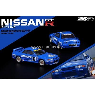 (PO) INNO MODELS INNO64 1/64 NISSAN SKYLINE GT-R R32 #12 CALSONIC JTC 1990