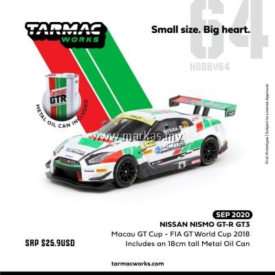 (PO) TARMAC WORKS HOBBY64 1/64 NISSAN NISMO GT-R GT3 MACAU GT CUP - FIA GT WORLD CUP 2018