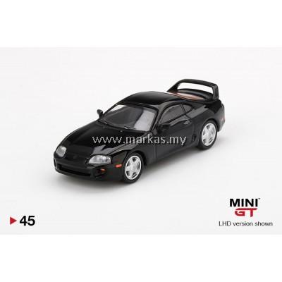 (PO) MINI GT 1/64 #45 TOYOTA SUPRA (JZA80) BLACK