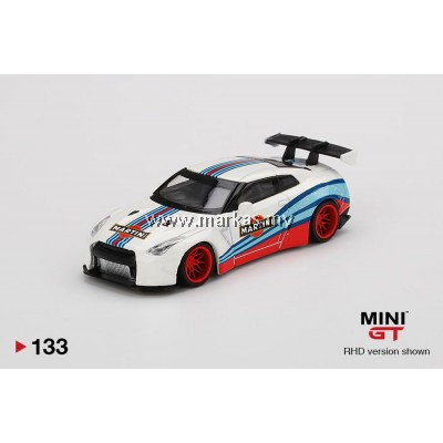 (PO) MINI GT 1/64 #133 LB WORKS NISSAN GT-R R35 TYPE 1 REAR WING VER 1 MARTINI RACING