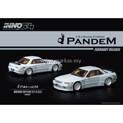 INNO MODELS INNO64 1/64 NISSAN SKYLINE GT-R R32 PANDEM MATT GREY