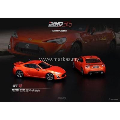 INNO MODELS INNO64 1/64 TOYOYA GT86 2014 ORANGE