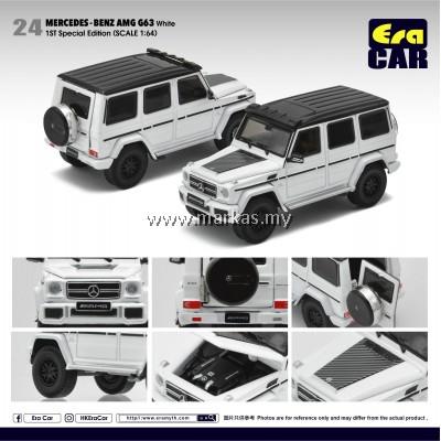 (PO) ERA CAR 1/64 #24 MERCEDES-BENZ AMG G63 WHITE SPECIAL EDITION