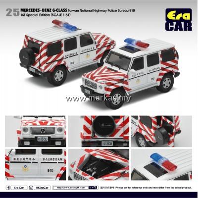(PO) ERA CAR 1/64 #25 MERCEDES-BENZ AMG G-CLASS TAIWAN NATIONAL HIGHWAY POLICE BUREAU 910