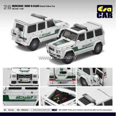 (PO) ERA CAR 1/64 #26 MERCEDES-BENZ AMG G-CLASS DUBAI POLICE CAR