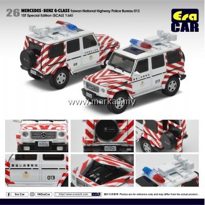 (PO) ERA CAR 1/64 #26 MERCEDES-BENZ AMG G-CLASS TAIWAN NATIONAL HIGHWAY POLICE BUREAU 013