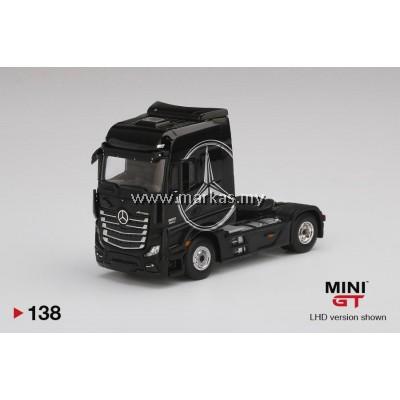 (PO) MINI GT 1/64 #138 MERCEDES BENZ ACTROS BLACK WITH SILVER MERCEDES LOGO