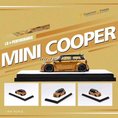 TIMOTHY & PIERRE 1/64 LB☆WORKS MINI COOPER GOLD