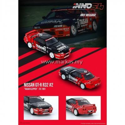 (PO) INNO MODELS INNO64 1/64 NISSAN SKYLINE GT-R R32 #2 TAISAN KLEPPER JTC1991