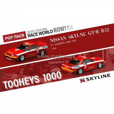 (PO) INNO MODELS INNO64 X POP RACE 1/64 NISSAN SKYLINE GT-R R32 #1 TOOHEYS 1000 1992