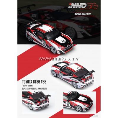 INNO MODELS INNO64 1/64 TOYOTA GT86 #86 GAZOO RACING SUPER TAIKYU SUZUKA 300KM 2012