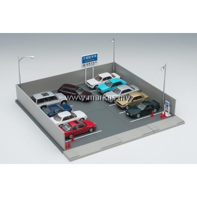 DIORAMA 1/64 TOMICARAMA VINTAGE 03B MONTHLY PARKING LOT