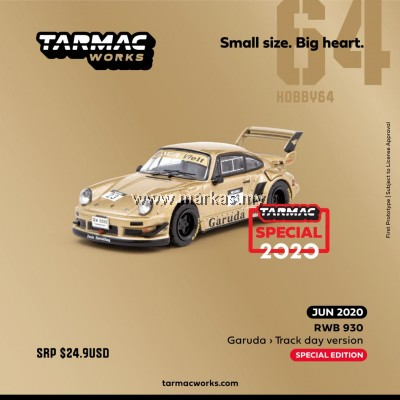 (PO) TARMAC WORKS HOBBY64 1/64 RWB930 GARUDA TRACK DAY VERSION *INDONESIA EXCLUSIVE