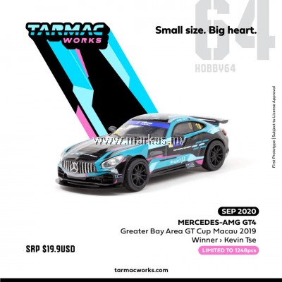 (PO) TARMAC WORKS 1/64 MERCEDES AMG GT4 GREATER BAY AREA GT CUP MACAU 2019 WINNER