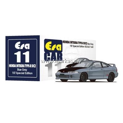 (PO) ERA CAR 1/64 #11 HONDA INTEGRA TYPE R DC2 1ST SPECIAL EDITION BLUE GRAY