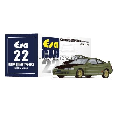(PO) ERA CAR 1/64 #22  HONDA INTEGRA TYPE R DC2 MILITARY GREEN