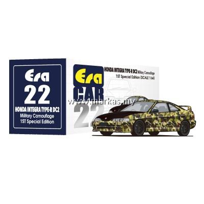 (PO) ERA CAR 1/64 #22  HONDA INTEGRA TYPE R DC2 1ST SPECIAL EDITION MILITARY CAMO