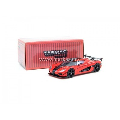 TARMAC WORKS GLOBAL64 1/64 KOENIGSEGG AGERA RS RED/ CARBON ACCENT