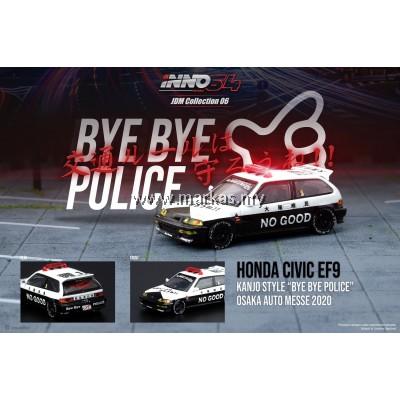 (PO) INNO MODELS INNO64 1/64 HONDA CIVIC EF9 KANJO STYLE BYE BYE POLICE OSAKA AUTO MESSE 2020 JDM COLLECTION