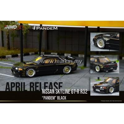 INNO MODELS INNO64 1/64 NISSAN SKYLINE GT-R R32 PANDEM BLACK