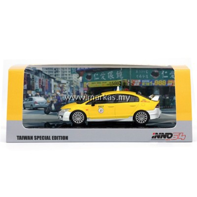 INNO MODELS INNO64 1/64 TAIWAN EXCLUSIVE - HONDA CIVIC TYPE-R FD2 TAIWAN TAXI