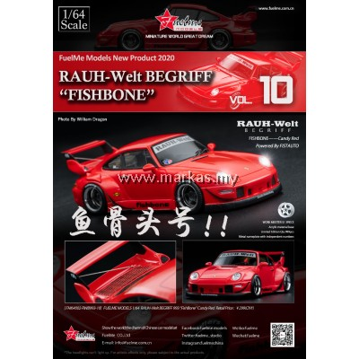 (PO) FUELME 1/64 RAUH-WELT BEGRIFF RWB993 FISHBONE CANDY RED