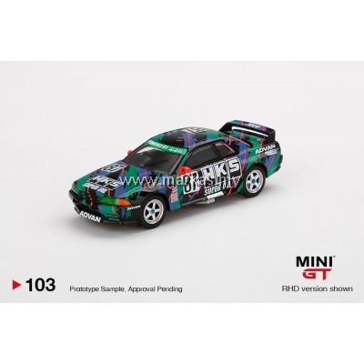 (PO) MINI GT 1/64 #103 NISSAN SKYLINE R32 GR.A #87 HKS JAPAN TOURING CAR CHAMPIONSHIP