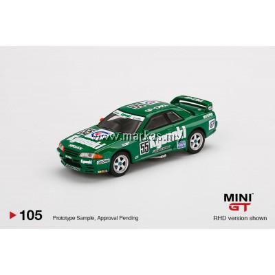 (PO) MINI GT 1/64 #105 NISSAN SKYLINE R32 GR.A #55 KYOSEKI 1993 JAPAN TOURING CAR CHAMPIONSHIP