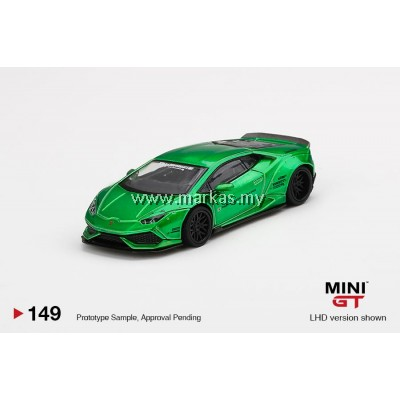 (PO) MINI GT 1/64 #149 LB WORKS LAMBORGHINI HURACAN VERSION 2 GREEN METALIC
