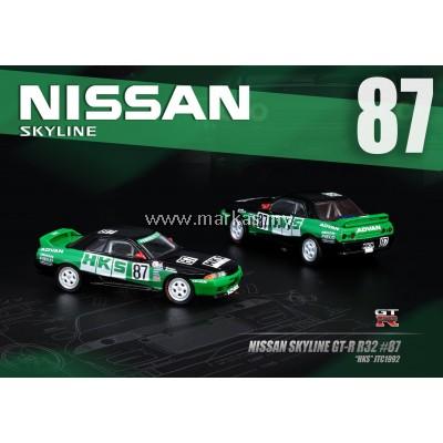 INNO MODELS INNO64 1/64 NISSAN SKYLINE GT-R R32 #87 HKS JTC 1992