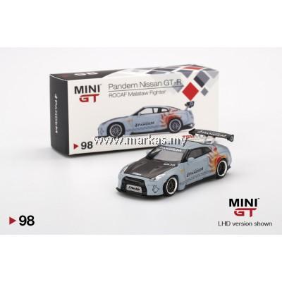 MINI GT 1/64 #98 TAIWAN EXCLUSIVE PANDEM GT-R R35 GT WING ROCAF MALATAW FIGHTER LHD