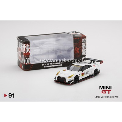 MINI GT X POP RACE 1/64 #91 EVA RT TEST TYPE-01 X WORKS GT-R #33 TEST CAR SUPER GT GT300 2019