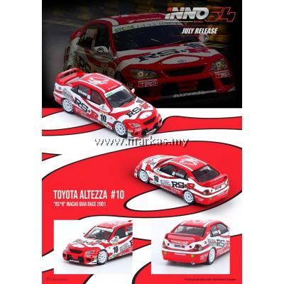"INNO MODELS INNO64 1/64 TOYOTA ALTEZZA #10 ""TEAM RS*R"" MACAU GUIA RACE 2001"