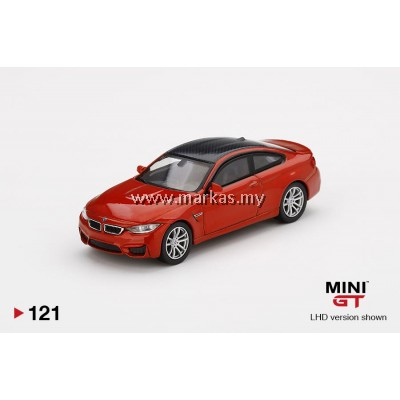 (PO) MINI GT 1/64 #121 BMW M4 (F82) SAKHIR ORANGE