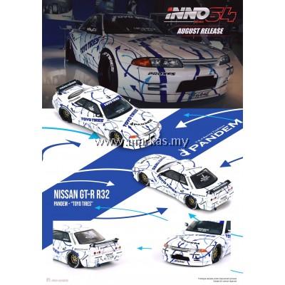 (PO) INNO MODELS INNO64 1/64 NISSAN SKYLINE GT-R R32 ROCKET BUNNY - PANDEM TOYO TIRES