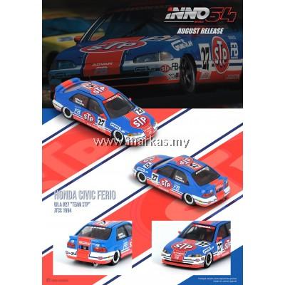 (PO) INNO MODELS INNO64 1/64 HONDA CIVIC FERIO EG9 GR.A #27 TEAM STP JTCC 1994