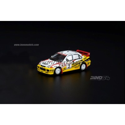 INNO MODELS INNO64 1/64 MITSUBISHI LANCER EVOLUTION III #2 SINGHA RALLIART RALLY OF THAILAND 1995 WINNER (THAILAND EXCLUSIVE)