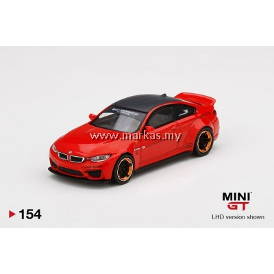 (PO) MINI GT 1/64 #154 LB WORKS BMW M4 RED WITH COPPER WHEEL