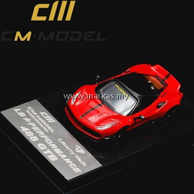 CM MODEL 1/64 LB PERFORMANCE FERRARI 488 GTB RED