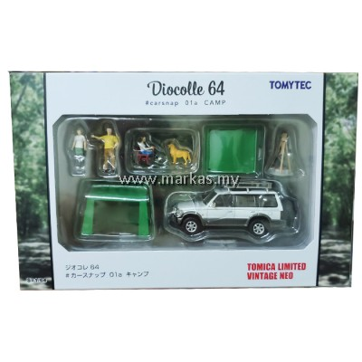 TOMICA LIMITED VINTAGE NEO 1/64 DIOCOLLE64 #CARSNAP 01A CAMP MITSUBISHI PAJERO MID ROOF WIDE VR