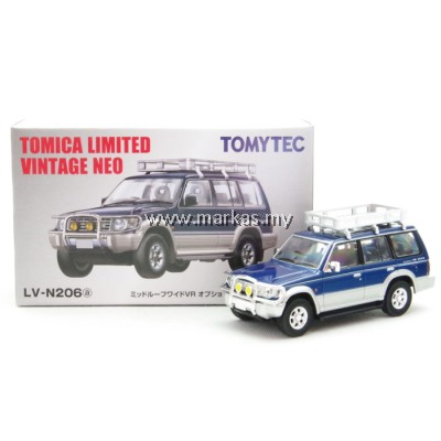 TOMICA LIMITED VINTAGE LV-N206A MITSUBISHI PAJERO VR WITH OPTIONS (BLUE/SILVER)