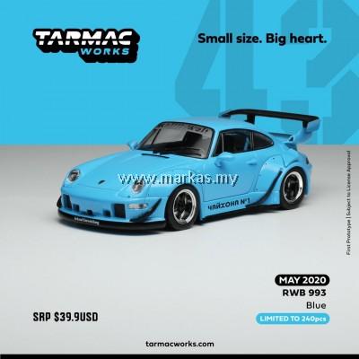 TARMAC WORKS 1/43 PORSCHE RWB 930 BLUE (ASIA SPECIAL EDITION)