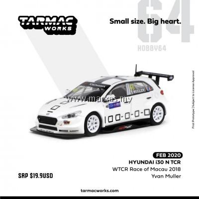 TARMAC WORKS 1/64 HYUNDAI i30 N TCR WTCR RACE OF MACAU 2018