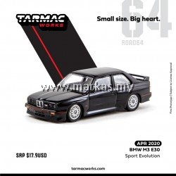 TARMAC WORKS 1/64 BMW M3 E30 SPORTS EVOLUTION