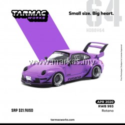 TARMAC WORKS 1/64 PORSCHE RWB 993 ROTANA PURPLE