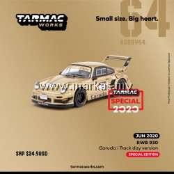 TARMAC WORKS HOBBY64 1/64 RWB930 GARUDA TRACK DAY VERSION *INDONESIA EXCLUSIVE
